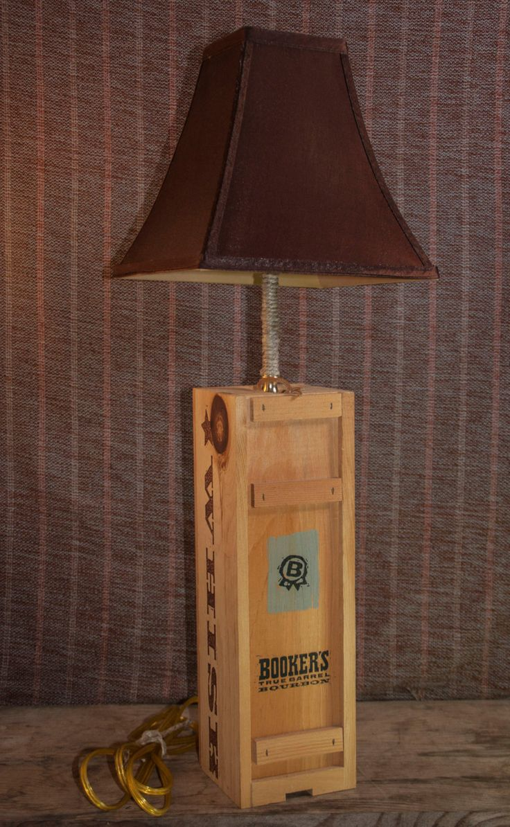 Handmade Bookers Bourbon Box Lamp with Shade by DandSHandmadeCrafts on Etsy