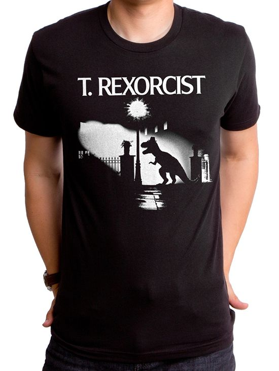 """T. Rexorcist"" Tee by Goodie Two Sleeves (Black)"