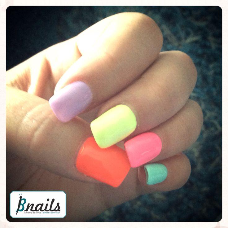 Color Nails ❤️ by Bnails #nails #bnails #color #portugal #torresvedras