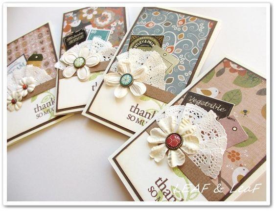 message cards 手作りカード