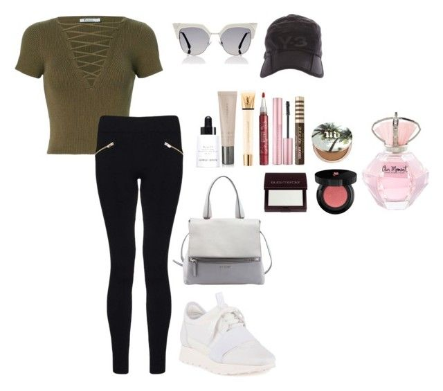 """white n green basic"" by rahmadita14 on Polyvore featuring T By Alexander Wang, Dorothy Perkins, Balenciaga, Givenchy, Fendi, Giorgio Armani, Burberry, Laura Mercier, Lancôme and Urban Decay"