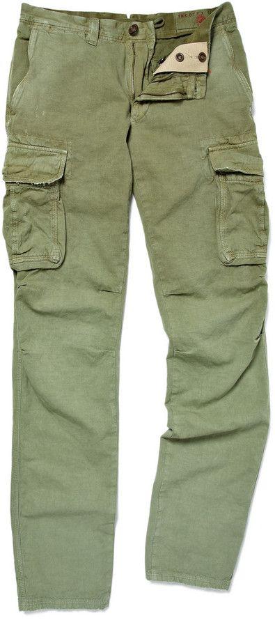 €372, Pantalon cargo vert Incotex. De MR PORTER. Cliquez ici pour plus d'informations: https://lookastic.com/men/shop_items/128335/redirect