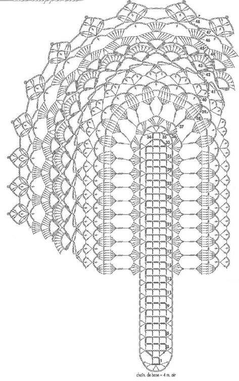 Crochet Table Center - Light