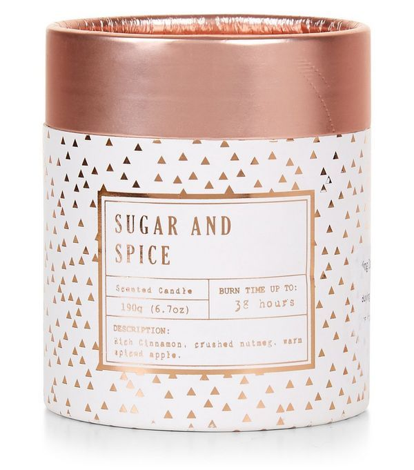 Rose Gold Sugar and Spice Boxed Candle | New Look