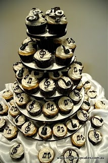 music cupcakes for my 'music-themed' wedding