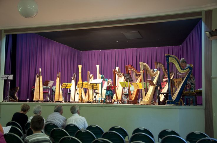 18 harpists on stage, not seen very often! www.classicalmusician.com.au