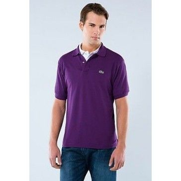 Men Polo Shirt Short Sleeve, Purple