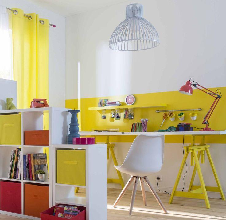 les 24 meilleures images du tableau d co jaune sur pinterest deco jaune boiseries et jaune soleil. Black Bedroom Furniture Sets. Home Design Ideas