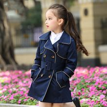 2016 Winter Coat for Girls Long Style Autumn Fall Outwear Windbreaker Teens Jacket for Kids Age 4 5 6 7 8 9 10 11 12T Years Old(China (Mainland))