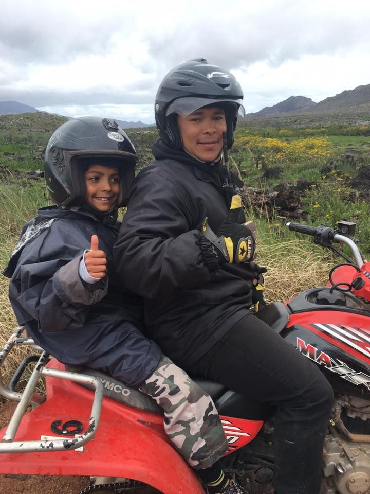 Quad Biking in the rain in Elgin with SA Forest Adventures - SA adventure summit