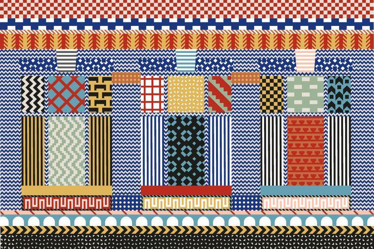 Designmuseon etusivu (Koti Hemmet Home - graphic design by Laura Väinölä)