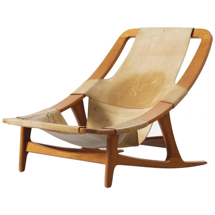 Arne Tidemand Ruud Lounge Chair In Teak And Natural Leather