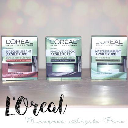 Le trio de masques à l'argile de L'Oréal http://www.mademoisellepolish.com/2016/08/le-trio-de-masques-largile-de-loreal.html