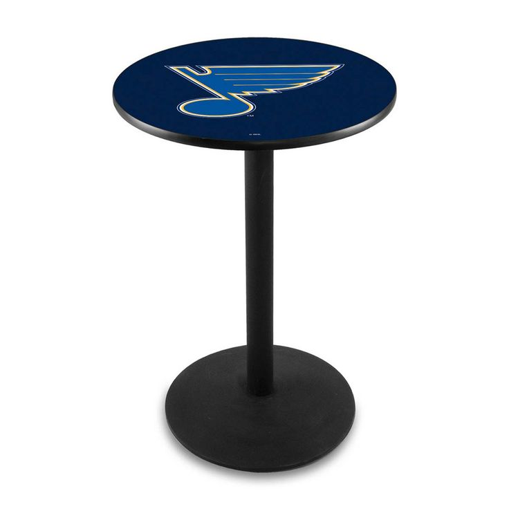 St. Louis Blues Outdoor Table w/ Black Wrinkle Base