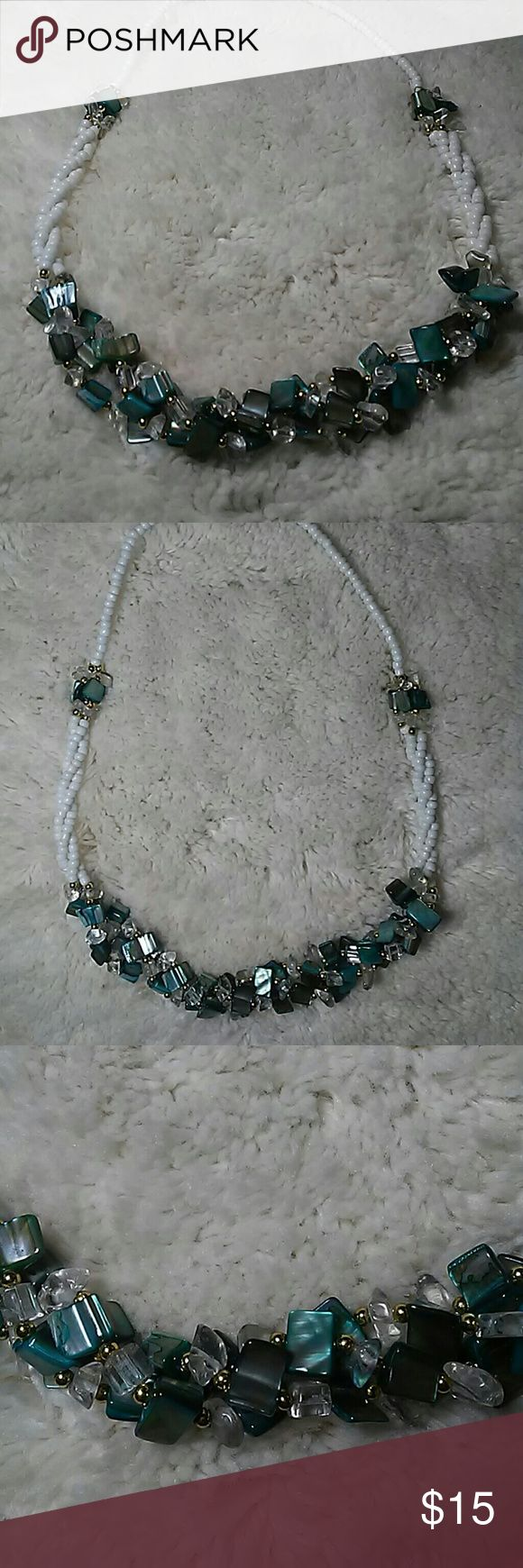 Handmade unique design blue and white necklace Blue and whiye necklace handmade unique design with blue and white beads new Jewelry Necklaces