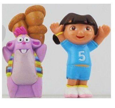 Dora figurer till lek och tårtdekoration