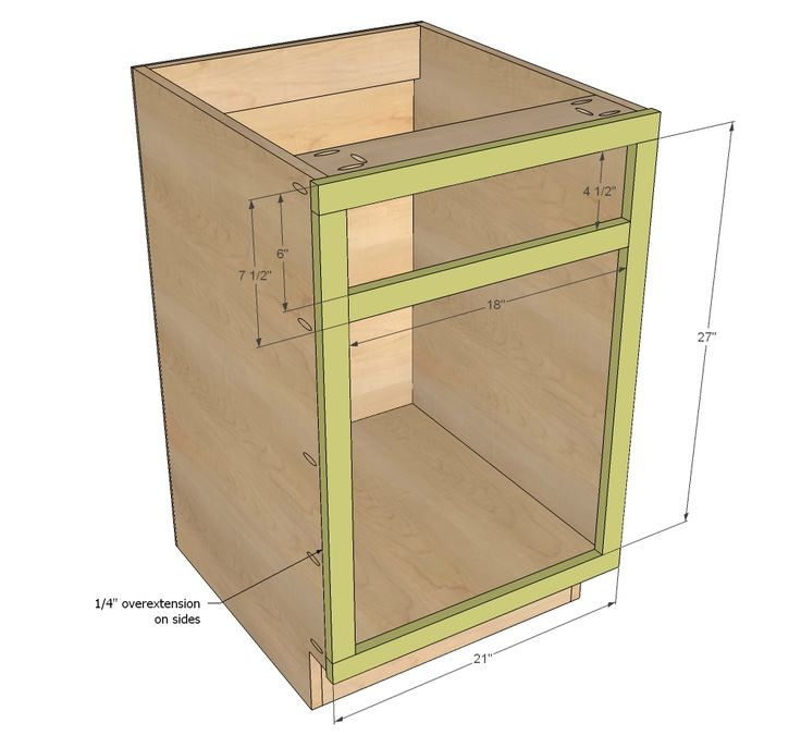 "Ana White | Build a 21"" Base Cabinet Door/Drawer Combo (Momplex White Kitchen) 
