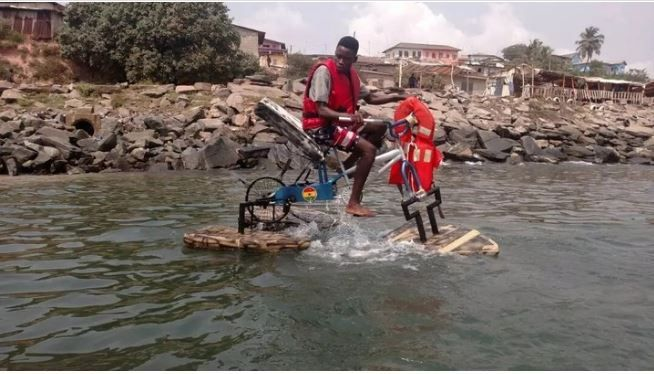 "Man Who Built ""Water Bicycle"" Offered A Full Scholarship At His University [Photo] - Nigeriana News - Nigerian Newspaper"