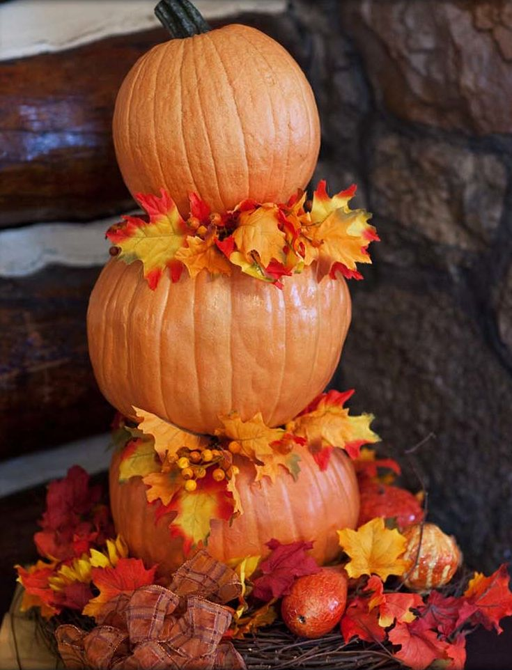 47 best images about fall flowers on pinterest for 3 tier pumpkin decoration