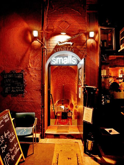 Smalls Jazz Club - the quintessential jazz dive in Greenwich Village. As intimate as it gets...