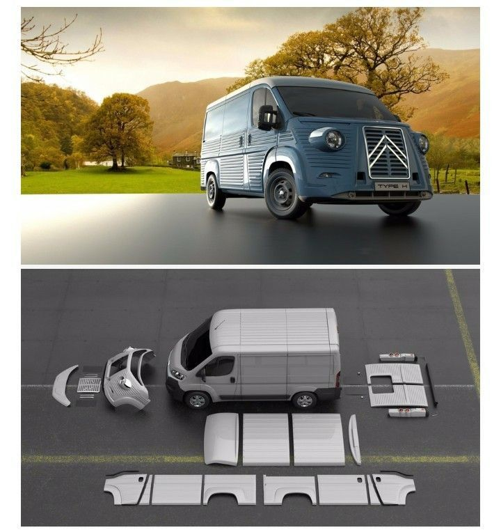 Citroën H based on a modern Citroën Jumper - #car #cartuning