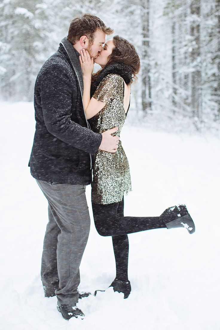 Snow covered winter engagement session with a hint of sparkle:  http://www.stylemepretty.com/2015/11/10/winter-engagements-to-accidentally-share-with-your-man/