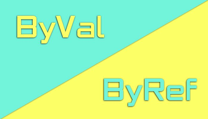 Difference between ByVal and ByRef in VBA