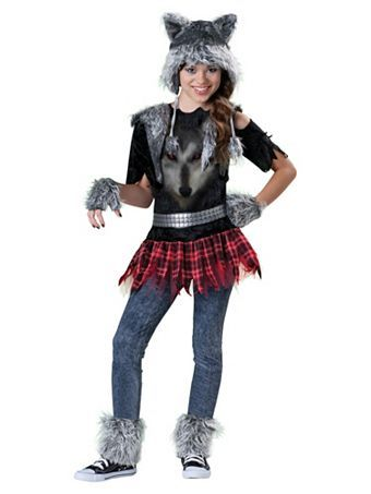 Girl's Wear Wolf Costume | Wholesale Animals Halloween Costumes for Girls Costumes