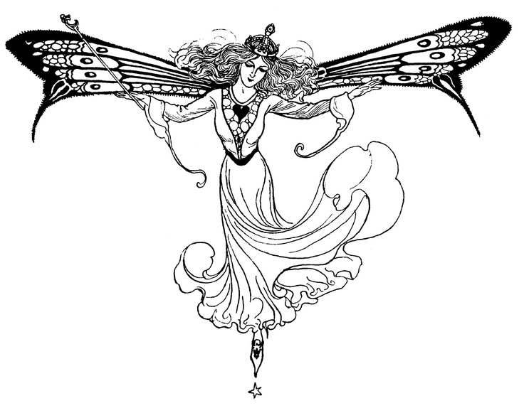 155 best images about Faerie Coloring Pages on Pinterest