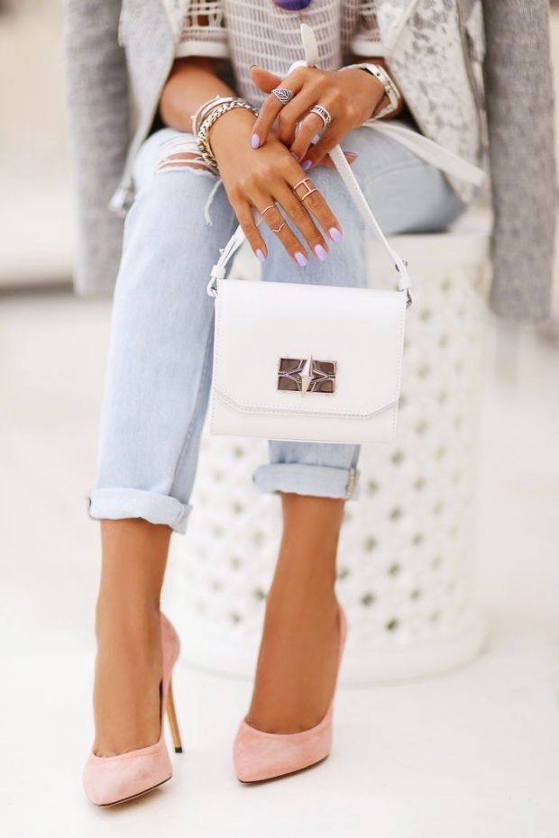 Look pastel + talons hauts / Pastel Outfit + pink heels