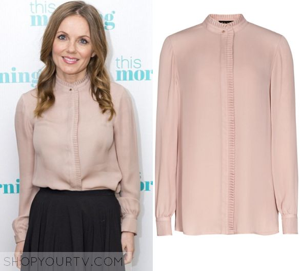 This Morning: May 2016 Geri's Nude Pleat Trim Blouse