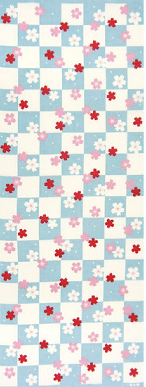 Japanese Tenugui Cotton Fabric Cherry Blossom by JapanLovelyCrafts