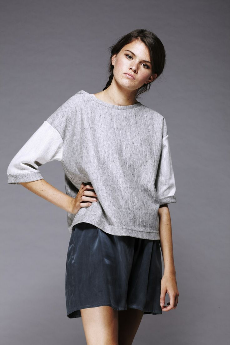Shanti Sundays Herringbone Weave reverse Sweat and Silk Culottes Made in Britain