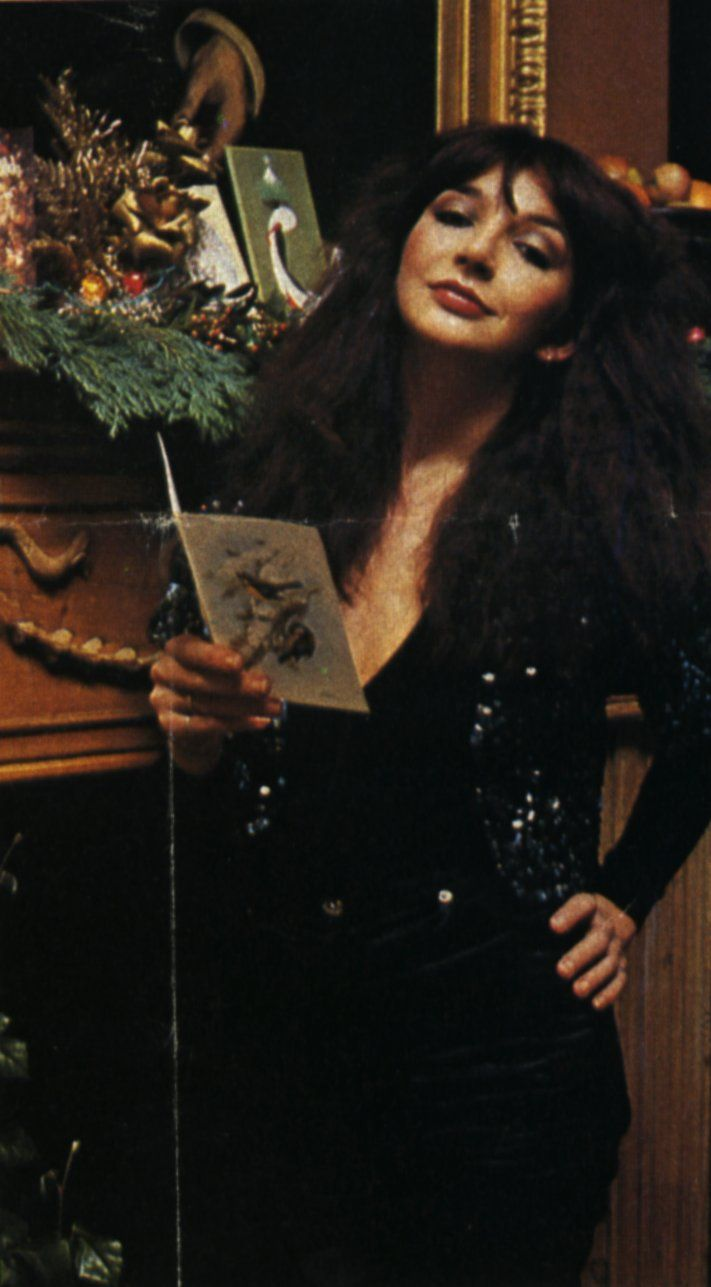 "Kate Bush, in a 30's gun metal sequined bolero, picture is from an article ""Tales Of Christmas Past"" by Jan Etherington, Christmas 1978"