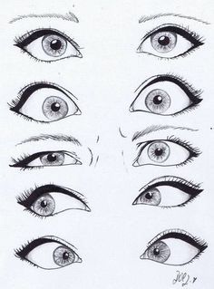 Drawing eyes.   For more great pins go to @KaseyBelleFox