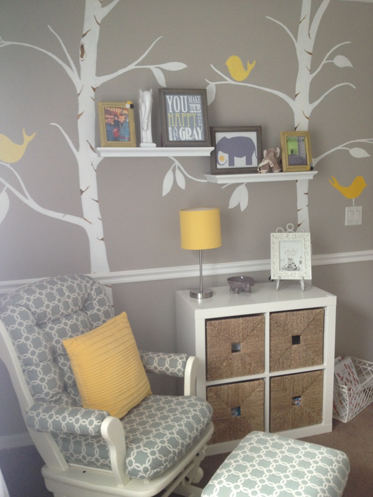 Our Daughters Grey And Yellow Nursery With Pottery Barn