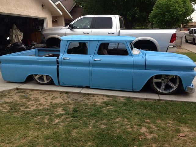 66 bagged CREW CAB CHOPPED TOP shortened bed -