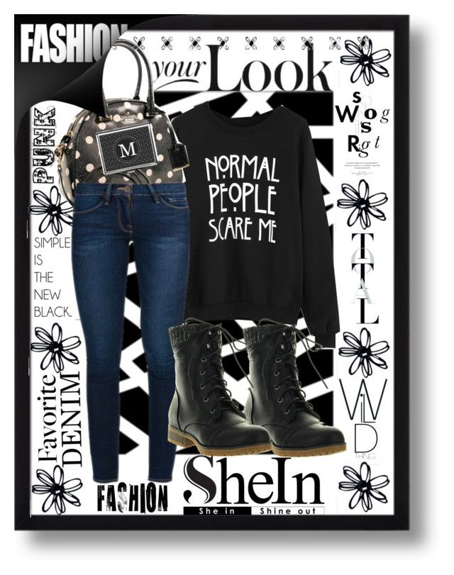 """""""shein contest"""" by summer-marin ❤ liked on Polyvore featuring Kate Spade, Frame Denim and Refresh"""