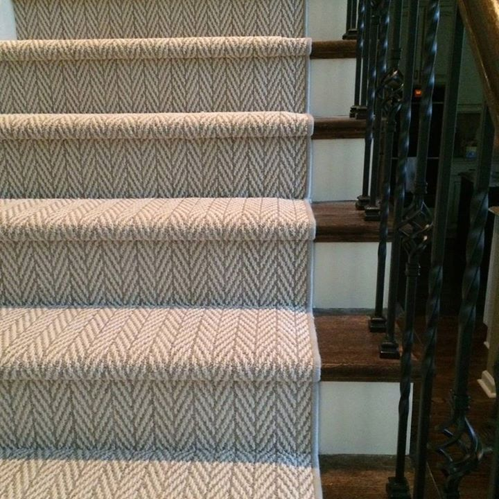 Herringbone stair runner