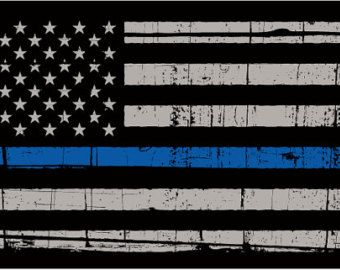 Thin Blue Line Decal Blue Line Flag Thin Blue by VinylDecalShoppe