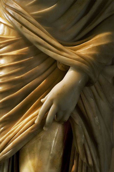 Marble statue detail