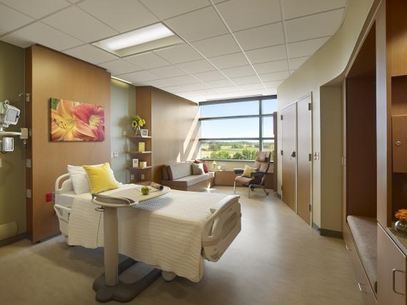 A Nurse Alcove Outside Each Patientroom Provides A View