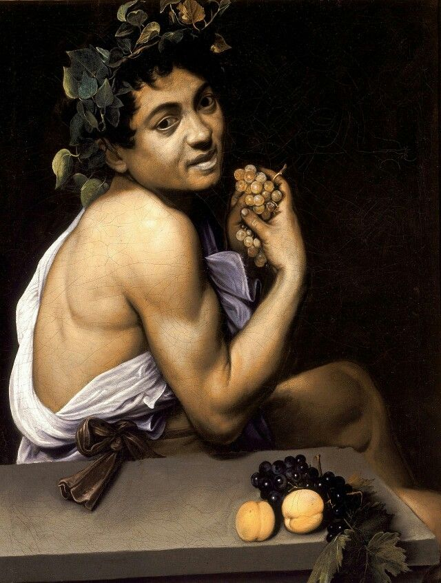 istCaravaggioYearc. 1593Typeoil on canvasDimensions67 cm × 53 cm (26 in × 21 in)LocationGalleria Borghese, Rome  The Young Sick Bacchus (Italian: Bacchino Malato), also known as the Sick Bacchus or the Self-Portrait as Bacchus, is an early self-portrait by the Baroque artist Michelangelo Merisi da Caravaggio, dated between 1593 and 1594. It now hangs in the Galleria Borghese in Rome. According to Caravaggio's first biographer, Giovanni Baglione, it was acabinet piece painted by the artist…