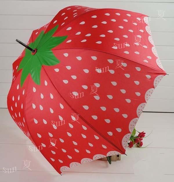 Strawberry Automatic umbrella Princess.Apollo umbrella Rain and shine | eBay