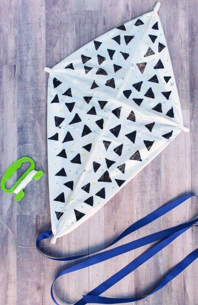 Plastic Bag Kite Craft For Kids Great Spring Or Summer Craft