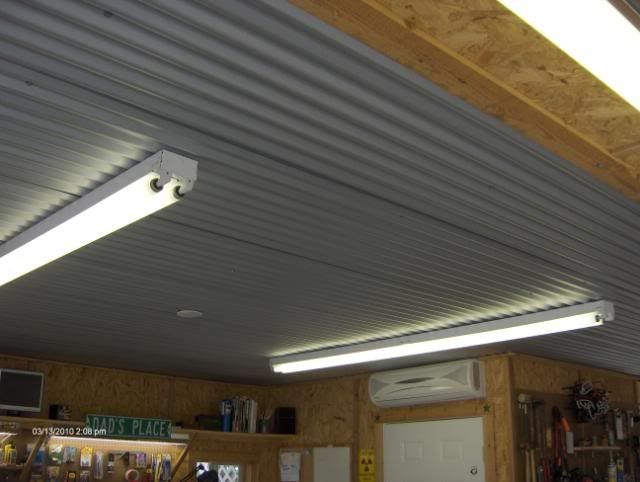 Anyone Use Galvanized Tin On Ceiling The Garage Journal Board Corrugated Bedroom