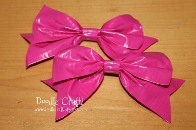 Doodle Craft...: Duct Tape Hair Bows and Bracelets!