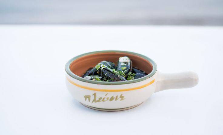 Μύδια αχνιστά /  Steamed mussels !
