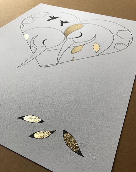 Sketch Gold Series - Sleeping Herons (Heart)