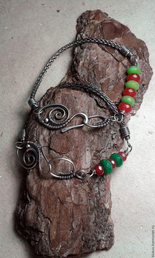 Браслеты ручной работы. Ярмарка Мастеров - ручная работа. Купить Серебряные браслеты с натуральными камнями. Handmade. Браслет ручной работы